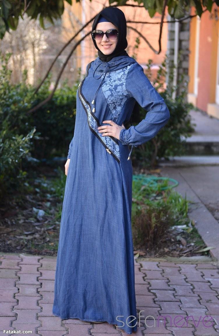 بالصور صور ملابس محجبات , اجمل فساتين وموديلات حريمي 1166 6