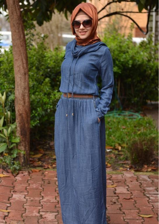 صوره فساتين جينز , فستان من الجينز للنساء