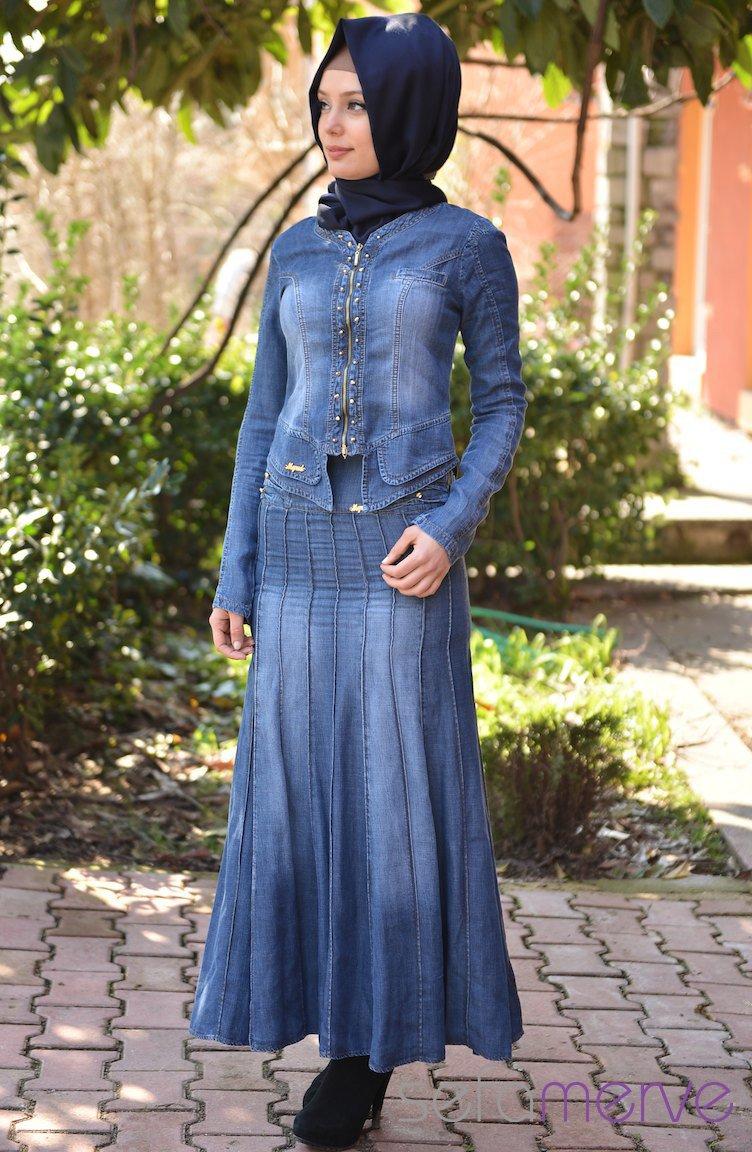 بالصور فساتين جينز , فستان من الجينز للنساء 1209 2
