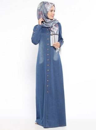 بالصور فساتين جينز , فستان من الجينز للنساء 1209 3