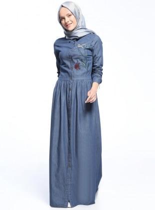 بالصور فساتين جينز , فستان من الجينز للنساء 1209 4