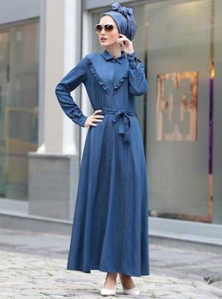بالصور فساتين جينز , فستان من الجينز للنساء 1209 5