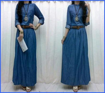 بالصور فساتين جينز , فستان من الجينز للنساء 1209 7