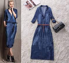 بالصور فساتين جينز , فستان من الجينز للنساء 1209 8