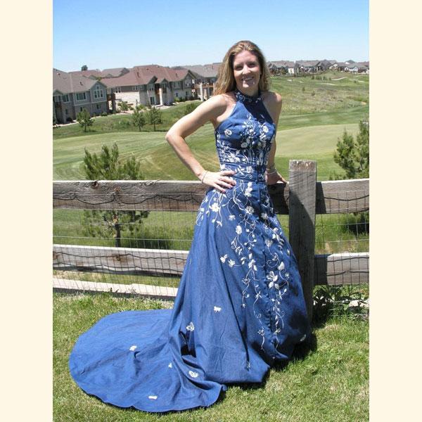 بالصور فساتين جينز , فستان من الجينز للنساء 1209 9