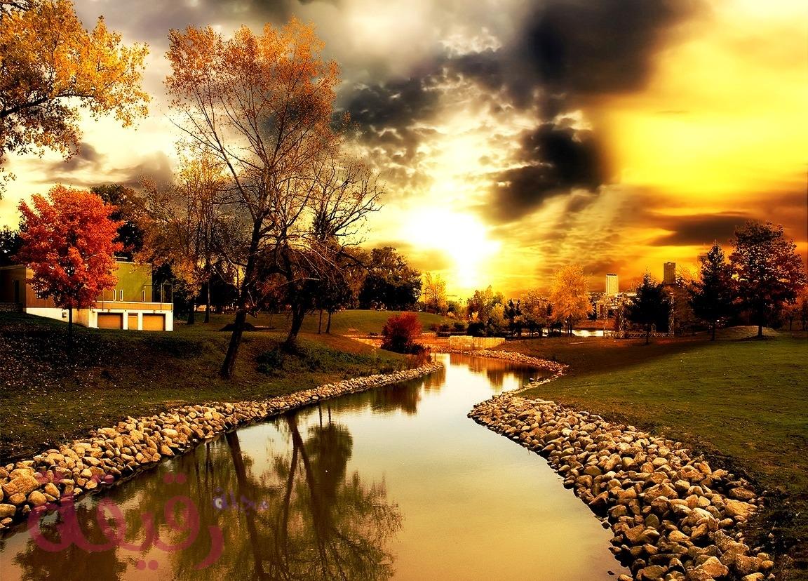 صوره جميله لوقت الغروب الرائع