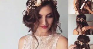 صوره تسريحة عروس 2018 , تسريحه جديده وجاكوال