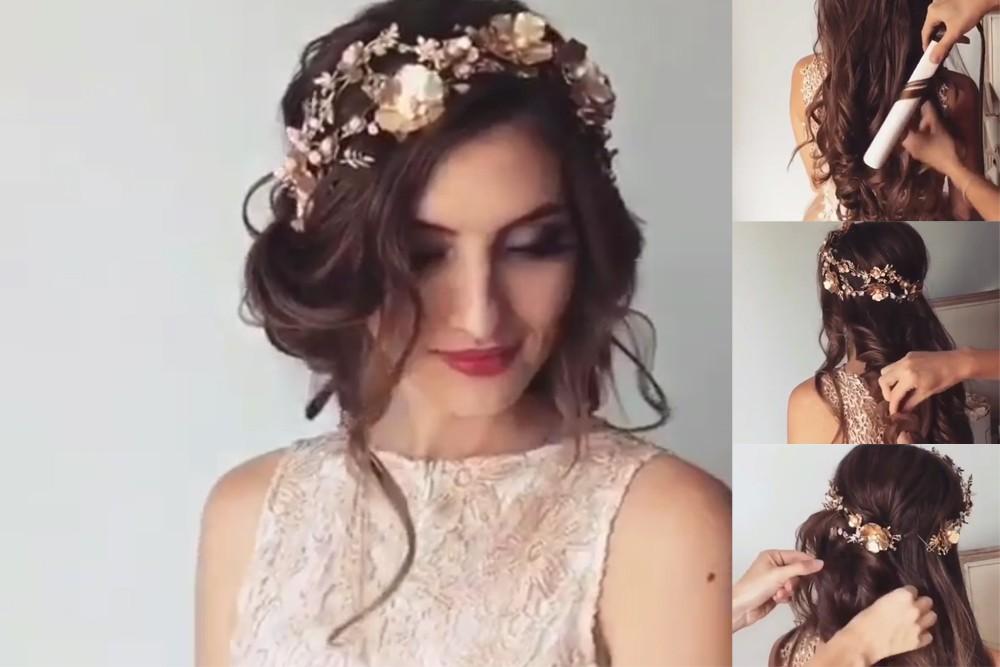 صوره تسريحة عروس 2019 , تسريحه جديده وجاكوال
