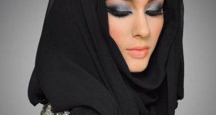 صورة لفات حجاب خليجي , ستايل حجاب تركي