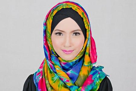صوره موضة الحجاب , احدث لفات الطرح الخطيرة