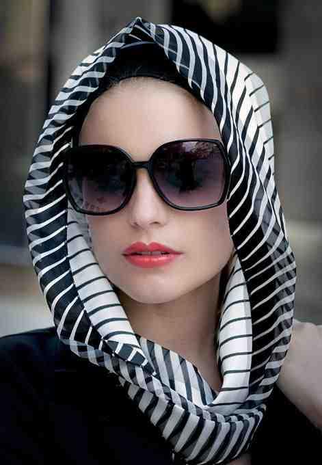 بالصور موضة الحجاب , احدث لفات الطرح الخطيرة 2328 8