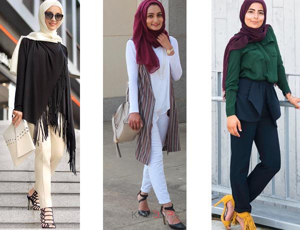 صوره ازياء كاجوال حجاب ملابس محجبات على الموضه , موديلات عملية للمحتشمات