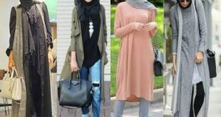 ازياء كاجوال حجاب ملابس محجبات على الموضه , موديلات عملية للمحتشمات