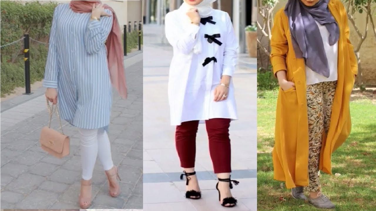 بالصور ازياء كاجوال حجاب ملابس محجبات على الموضه , موديلات عملية للمحتشمات 3062 2
