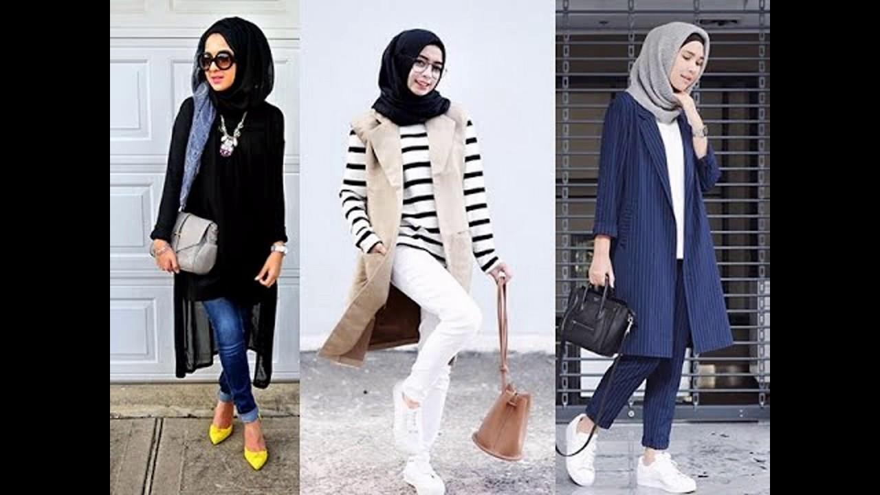 بالصور ازياء كاجوال حجاب ملابس محجبات على الموضه , موديلات عملية للمحتشمات 3062 7