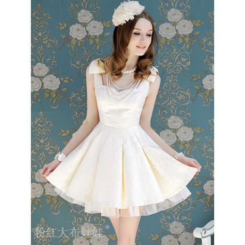 بالصور فساتين ناعمه قصيرة منفوشه , موديلات لفستان بنات كيوت 3091 4