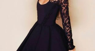 فساتين دانتيل قصيرة 2020 , اجمل الفساتين الدانتيل القصيرة 2020
