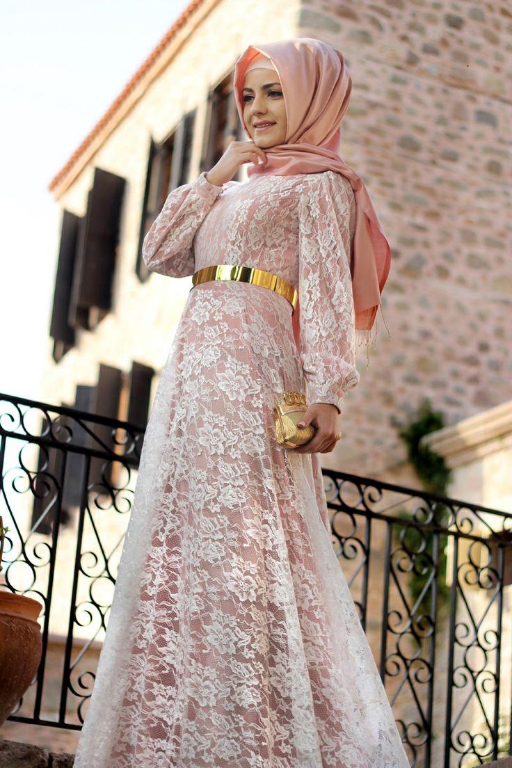 7bc519394 فساتين دانتيل طويله انستقرام , فستان للمحجبات من الدانتيل - اجمل الصور