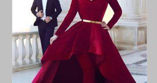 فساتين قصيرة من قدام وطويلة من الخلف , موديلات فستان كيوت