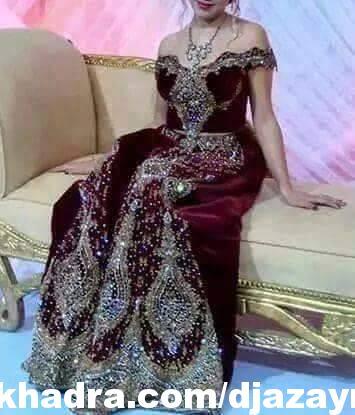 بالصور ملابس عرائس جزائرية 2019 , فساتين تقليديه جزائريه 3237 2