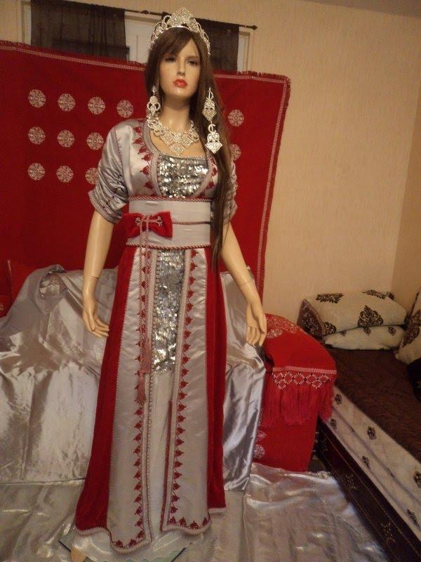 بالصور ملابس عرائس جزائرية 2019 , فساتين تقليديه جزائريه 3237 9