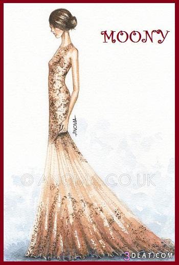 بالصور تصاميم ملابس مرسومة , اروع تصاميم لبس بناتي 3245 2