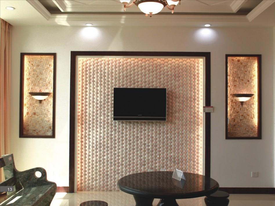 صورة ديكورات في برواز شاشه التلفزيون , ديكور لحائط الشاشات