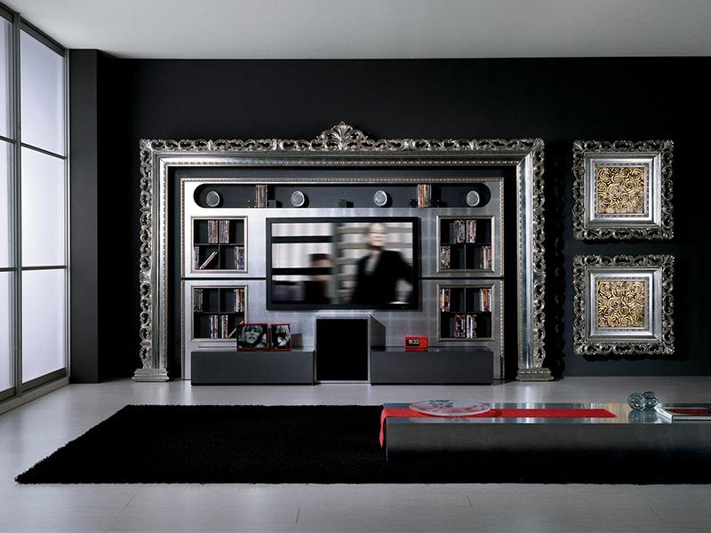 صوره ديكورات في برواز شاشه التلفزيون , ديكور لحائط الشاشات