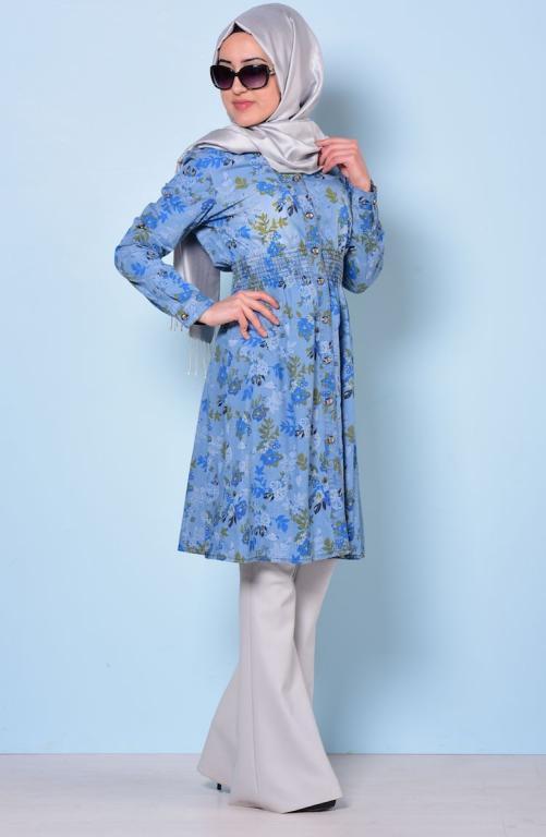 بالصور موديلات قمصان كويتية طويلة , فساتين وبلوزات موضة جدا 3506 5