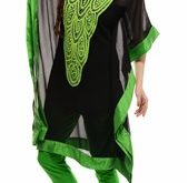 صوره قفطان مغربي بالسروال اجمل قفاطين مغربية بالسروال , ملابس للبنات