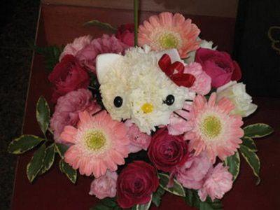 بالصور صور اشكال ورد اجمل بوكيه ورد بوكية ورد على شكل قطة و كلب رائع , وردات حلوة 4380 8