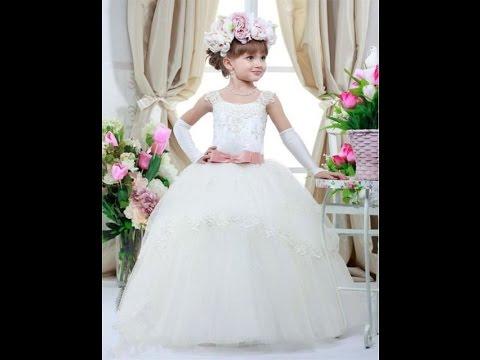 63457c471d378 احدث موديلات فساتين الزفاف للاطفال ...