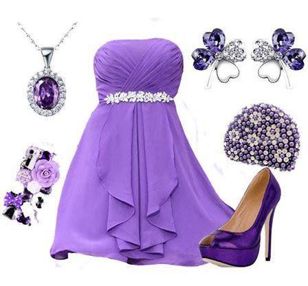 صورة فساتين باللون الموف , اروع فستان موف 936 2