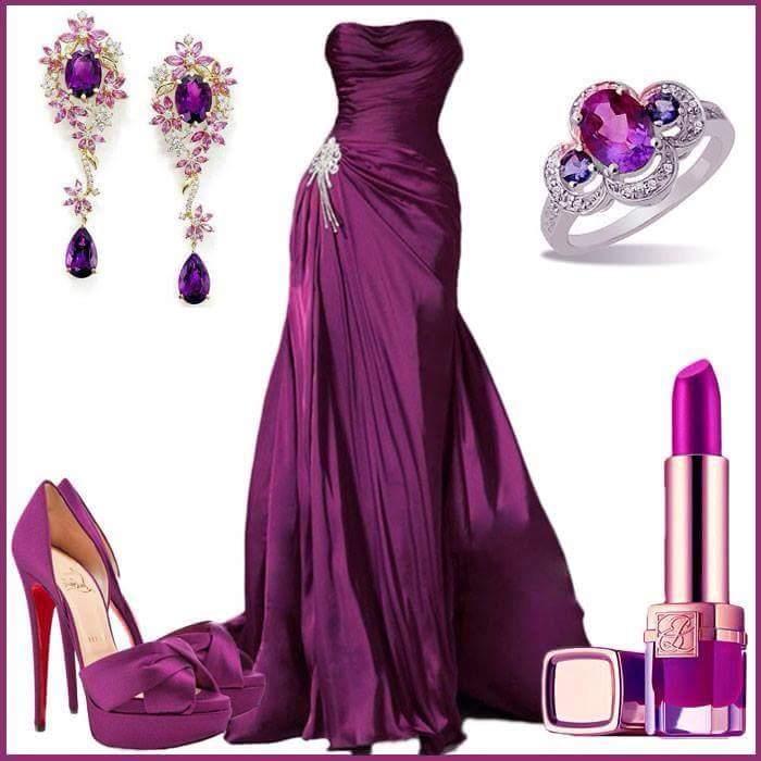 صورة فساتين باللون الموف , اروع فستان موف 936 4