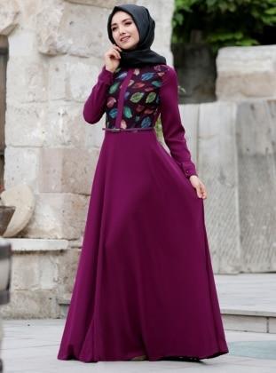 صورة فساتين باللون الموف , اروع فستان موف 936 7
