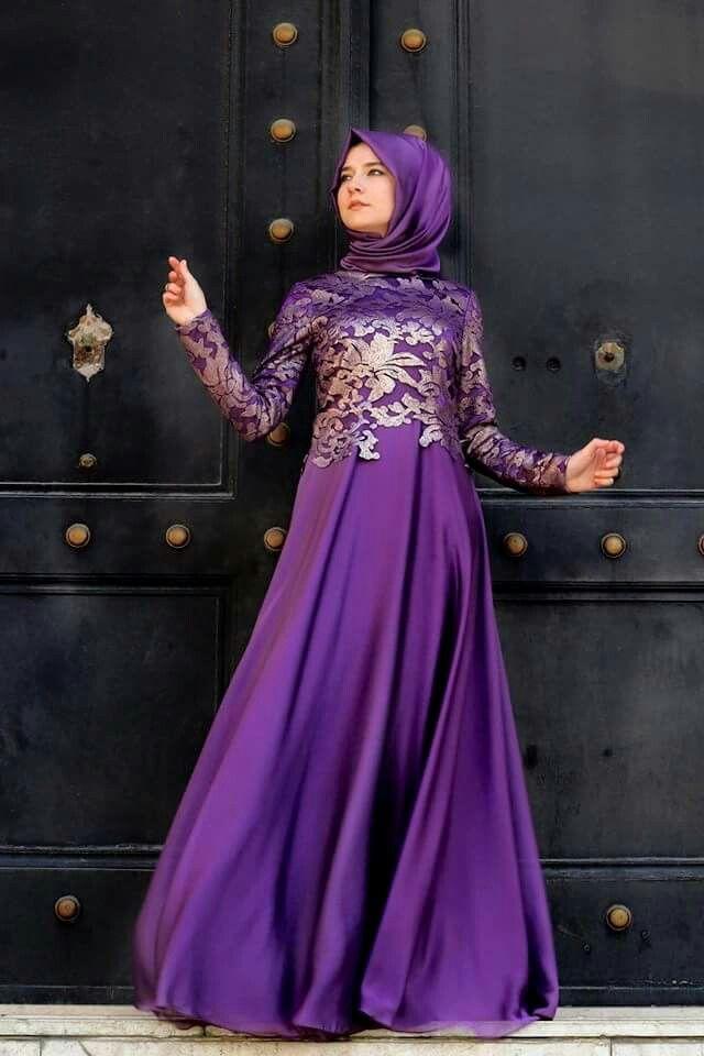 صورة فساتين باللون الموف , اروع فستان موف 936 8