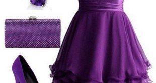 فساتين باللون الموف , اروع فستان موف