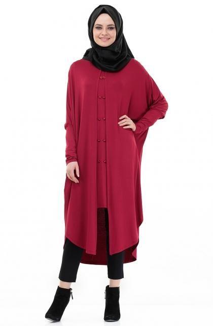 بالصور فساتين شتوية للمحجبات , كوليكشن ملابس الشتاء 945 6