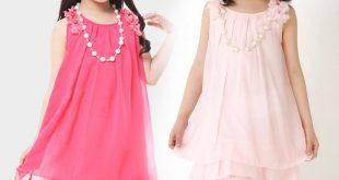 فساتين اطفال شيفون , فستان رقيق للاطفال
