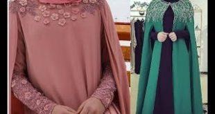 فساتين محجبات سواريه 2020 , فستان سوريه للمحجبات