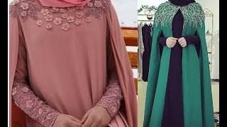 صور فساتين محجبات سواريه 2019 , فستان سوريه للمحجبات