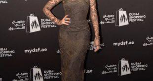 صورة فساتين ميريام فارس طويله , صور حديثف لفستان مريام فارس