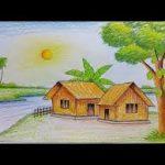 رسومات مناظر طبيعية سهله الرسم للاطفال , ابتكار اطفال