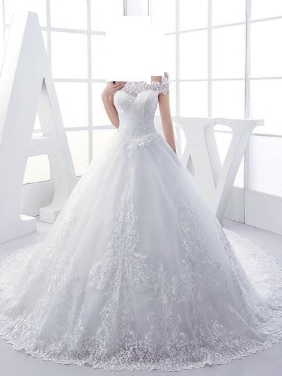 صوره فساتين زفاف 2019 واسعارها , اجمل فستان لزفافك