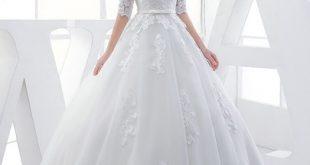 صوره فساتين زفاف 2018 واسعارها , اجمل فستان لزفافك