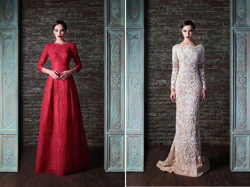صور فساتين دانتيل طويله , اروع الفساتين الطويلة للبنات