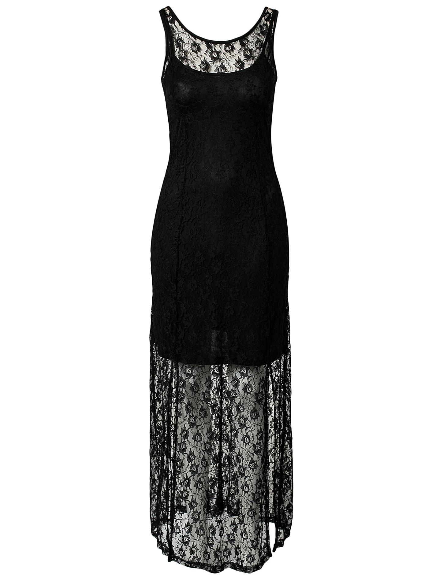 بالصور فساتين دانتيل طويله , اروع الفساتين الطويلة للبنات 1002 3