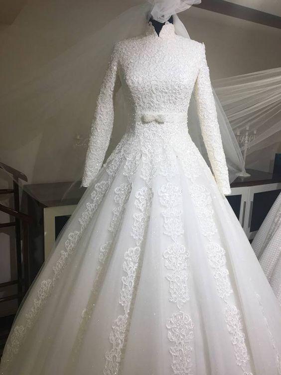بالصور فساتين افراح للمحجبات , احلى فستان عروسه 1025 6