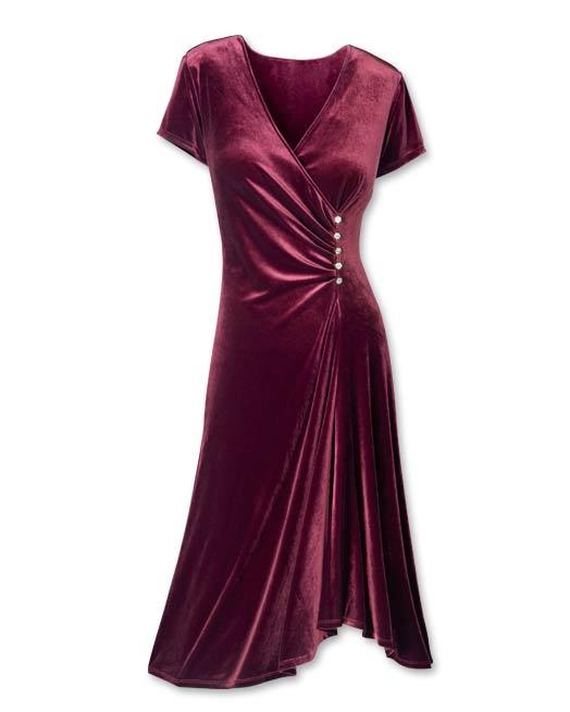 صورة فساتين قطيفة للمحجبات , افضل فستان قطيفه