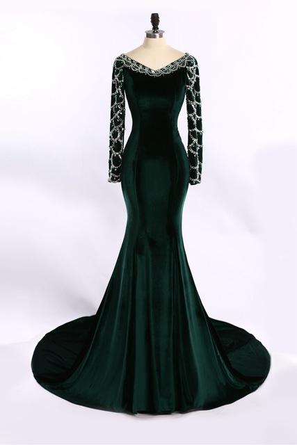 بالصور فساتين قطيفة للمحجبات , افضل فستان قطيفه 1033 5